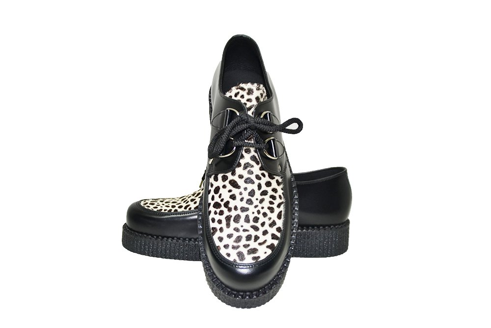 SINGLE SOLE CREEPER SHOE, WITH PLAIN APRON AND LACES